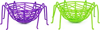 Set of 2 Halloween Spider Baskets With Legs! 8