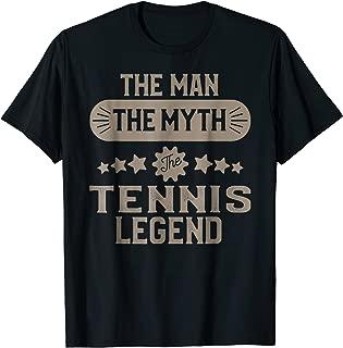 Tennis T-shirt for Men Funny Tennis Player Legend Gift