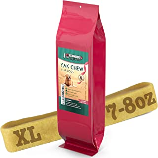 Vet Recommended XL Yak Chew for Large Dogs Made from Himalayan Yak Milk (7-8 Oz / 7-8 inches) - Long Lasting Yak Cheese Chew Milk Bone, 100% Natural, No Preservatives, Gluten Free Dog Treat