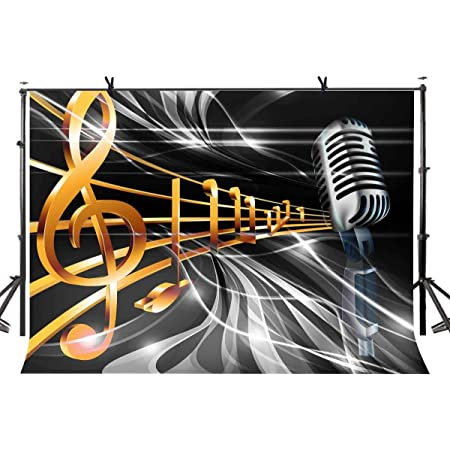 15x10ft Background Music Note Photography Backdrop Photo Props LYFU440