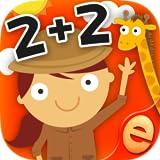男の子と女の子のための最高の事前K、幼稚園や1級数字、カウント、加算と減算活動ゲーム:スキルを持つ子供のための動物数学ゲーム