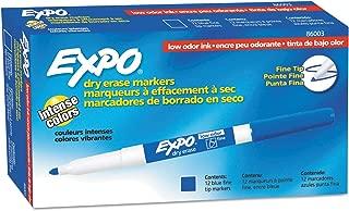EXPO Low Odor Dry-Erase Marker - Fine Tip - Pack of 12 - Blue