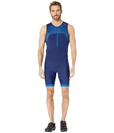 2XU Active Trisuit (Navy/Lapis Blue Print) Men