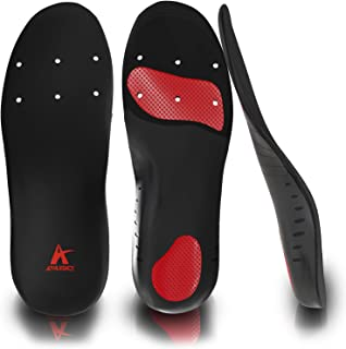 Orthotic Shoe Inserts for Pain Relief for Plantar Fasciitis, Flat Feet, Heel Spurs - Insoles with Arch Support & Shock Absorbing Cushion - Best for Running and Walking - Men & Women