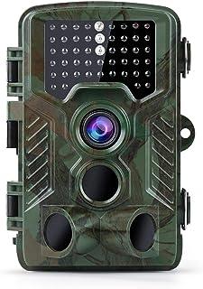 Coolife Trail Game Camera, 21MP 1080P Hunting Wildlife Camera with 3 Infrared Sensors 49Pcs IR LEDs Night Vision 0.2S Moti...