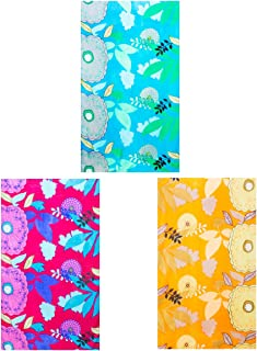 Sunsa women's scarf scarf scarf women's gift ideas for women girls scarfs for women ladies scarves made of Vikose with flowers and modern bohemian design gift girlfriend. Set of 3