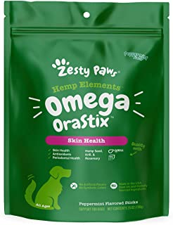 Sponsored Ad - Zesty Paws Omega 3 Sticks for Dogs - with Hemp Seed, Krill, EPA & DHA Fatty Acids & Taurine - Supports Norm...