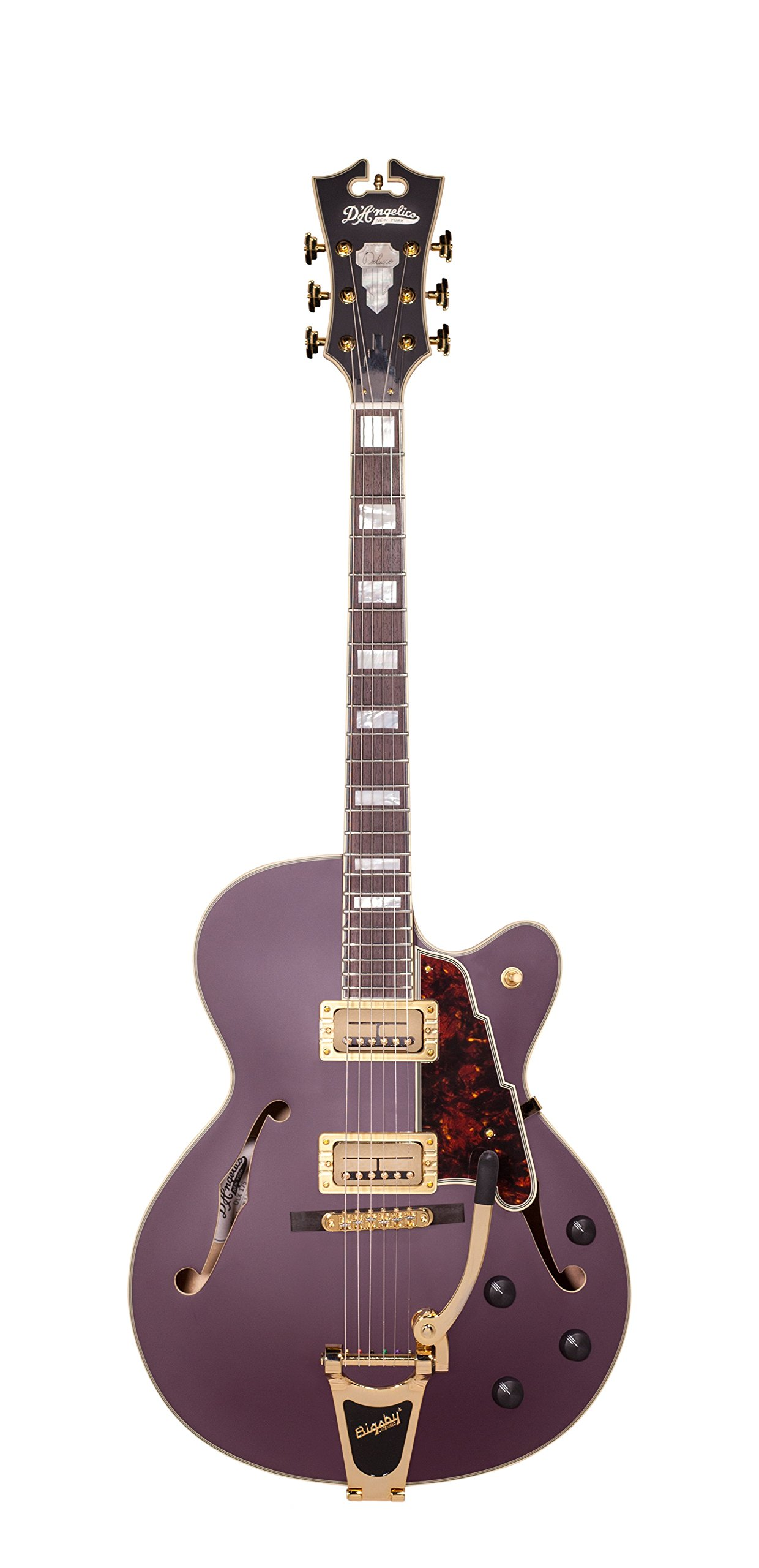 Cheap D Angelico Deluxe 175 Electric Guitar - Matte Plum Black Friday & Cyber Monday 2019