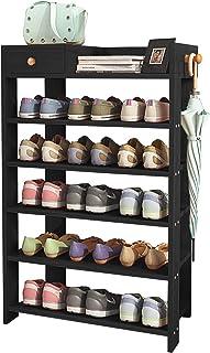 $49 » DL furniture - 4 Compartment Wood Plastic Composite Desk Organizer, Perfect for Book Shelf, Make Up Organizer, Cookie Rack | White (241238, Black)