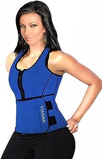 Sweat Neoprene Sauna Suit Tank Top Vest with Adjustable Shaper Waist Trainer Belt