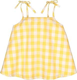 Hope & Henry Girls' Tie Shoulder Flutter Back Tank