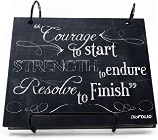 Gone For a Run BibFOLIO Race Bib Album | Bib Holder Chalkboard Courage to Start