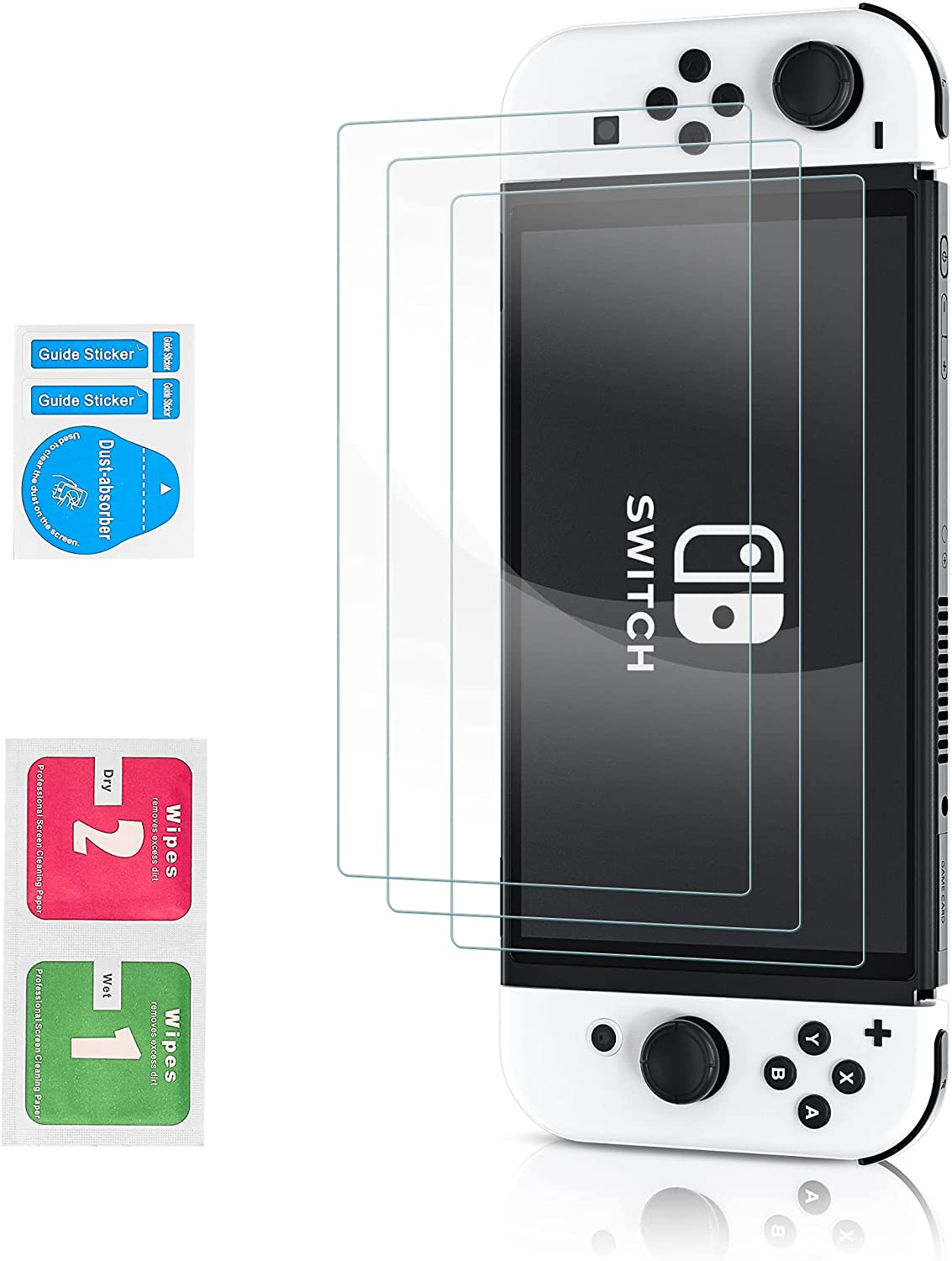 LASTYAL 3Pcs Screen Proctor Compatible 2021 model OLED with Switch Nintendo New product! New type