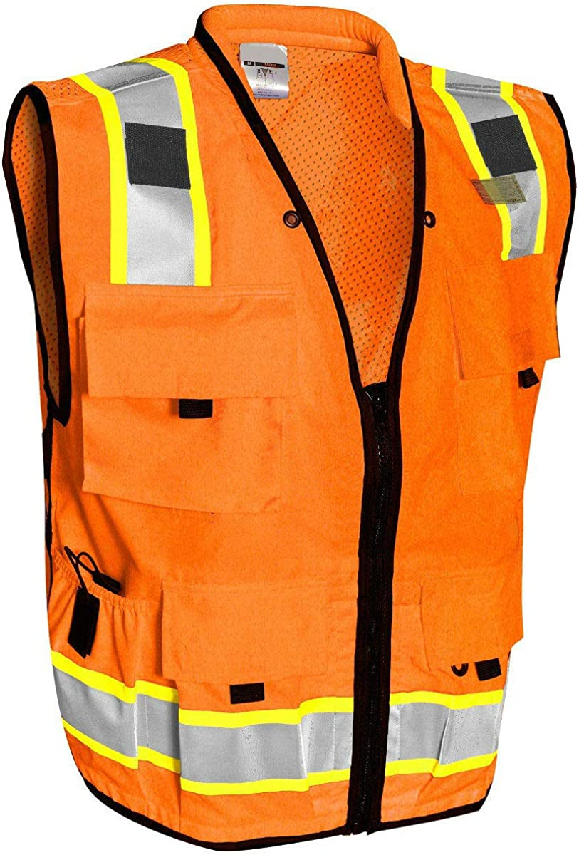 Vero1992 F Safety Vest For Men's Complete Free Shipping OFFer High Visibility With Po