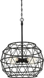 Westinghouse Lighting 6367900 Sierra Four-Light Indoor Chandelier, Matte Black Finish