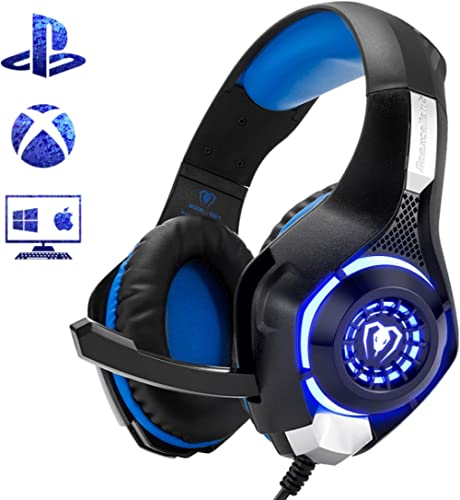 Beexcellent Gaming Headset for PS4 Xbox One PC Mac Controller Gaming Headphone with Crystal Stereo Bass Surround Soun...