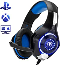Beexcellent Gaming Headset for PS4 Xbox One PC Mac Controller Gaming Headphone with Crystal Stereo Bass Surround Sound, LE...