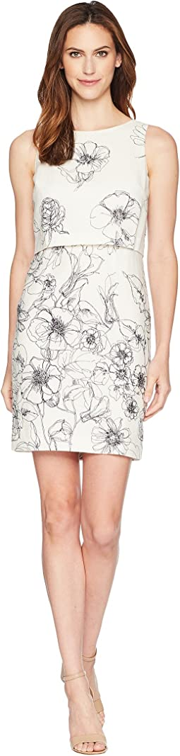 Linen Printed Popover Sleeveless Dress