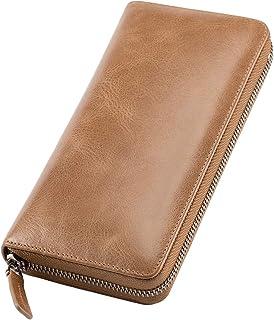 [Mandiva]財布 メンズ レディース 長財布 本革 セパレート型 小銭入れ 大容量 ラウンドファスナー トップレザー