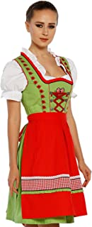Lukas Dirndl Authentic Bavarian Trachten Dirndl Dress 3-Pieces with Apron and Blouse