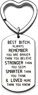 Best Friends Silver Stainless Steel Pendant Keyring Keychain Inspirational Jewelry