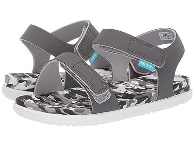 Native Kids Shoes Charley (Little Kid) (Dublin Grey/Konpeito/Shell White) Kids Shoes