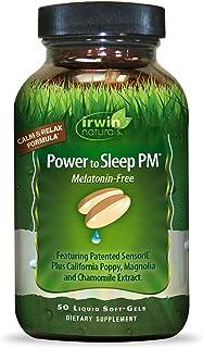 Sponsored Ad - Irwin Naturals Power to Sleep PM Melatonin-Free Relaxing Blend of Sensoril, California Poppy, Magnolia, Cha...