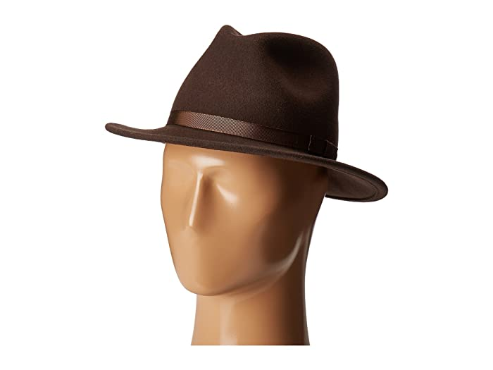 Country Gentleman Wilton Wool Fedora Hat (Brown) Caps