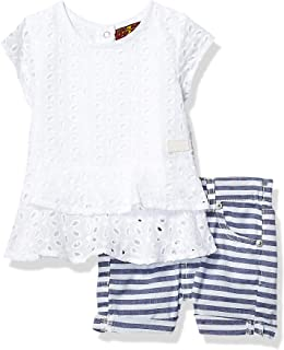 peplum top and shorts