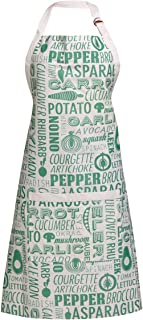 Premier Housewares Aprons for Women Kitchen Aprons Baking Apron Womens Apron Green Cotton Apron - Height 87 cm x Width 69 cm