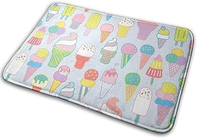 Non-Slip Doormats Ice Cream Entrance Rug Indoor/Outdoor Carpet Absorbs Moisture Washable Dirt Trapper Mats