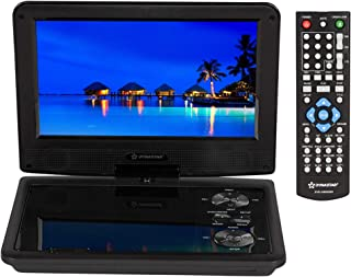 "Region Free Portable DVD Player 9"" Screen with 5 Hour Battery with headrest Mount case 110-240 Volts Dynastar Plays CPRM D..."
