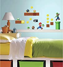 RoomMates Nintendo Super Mario Build A Scene Peel And Stick Wall Decals - RMK2351SCS