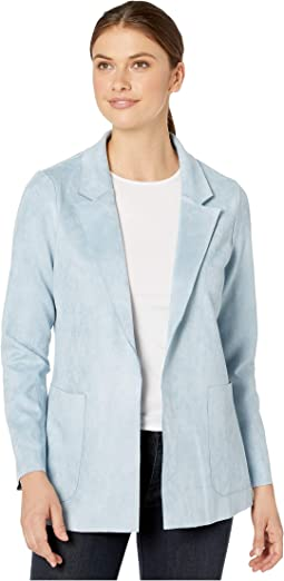 Solid Faux Suede Jacket