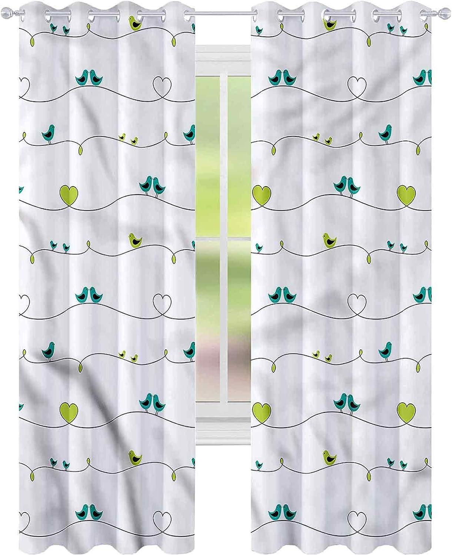 Window Curtain Drape Birds price Avian Animal Bl Silhouettes W42 Now on sale L72 x