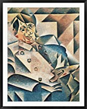 Portrait of Pablo Picasso by Juan Gris Framed Art Print Wall Picture, Black Frame, 40 x 51 inches
