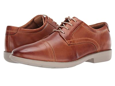 Nunn Bush Dixon Cap Toe Oxford with KORE Walking Comfort Technology (Cognac Multi) Men