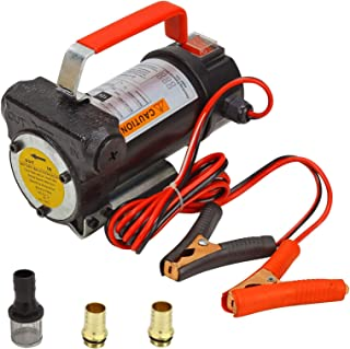 BLACKHORSE-RACING 12V New Portable DC Electric Fuel Transfer Pump Diesel Kerosene Oil Commercial Fuel Transfer Extractor Pump Motor Auto