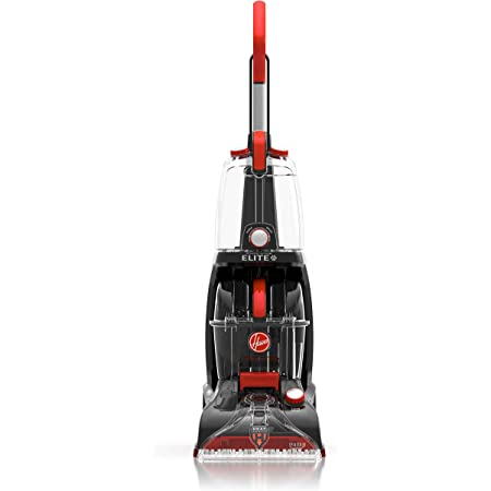 Hoover Power Scrub Elite Pet Upright Carpet Cleaner Machine and Shampooer, Lightweight Machine, FH50251PC, Red