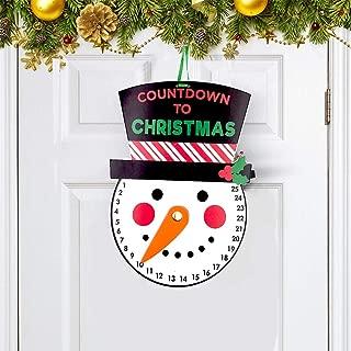 Seasons Stars SSDecor Christmas Snowman Advent Calendar for Christmas Door Hanging, Merry Christmas Decorations, Winter Decorations for Kids Adults Christmas Tree- Countdown to Christmas