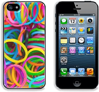 MSD Premium Apple iPhone 5 iphone 5S Aluminum Backplate Bumper Snap Case IMAGE ID: 29795147 rainbow Colors Blue Loom Refills Silicon Elastic Rubber Bands
