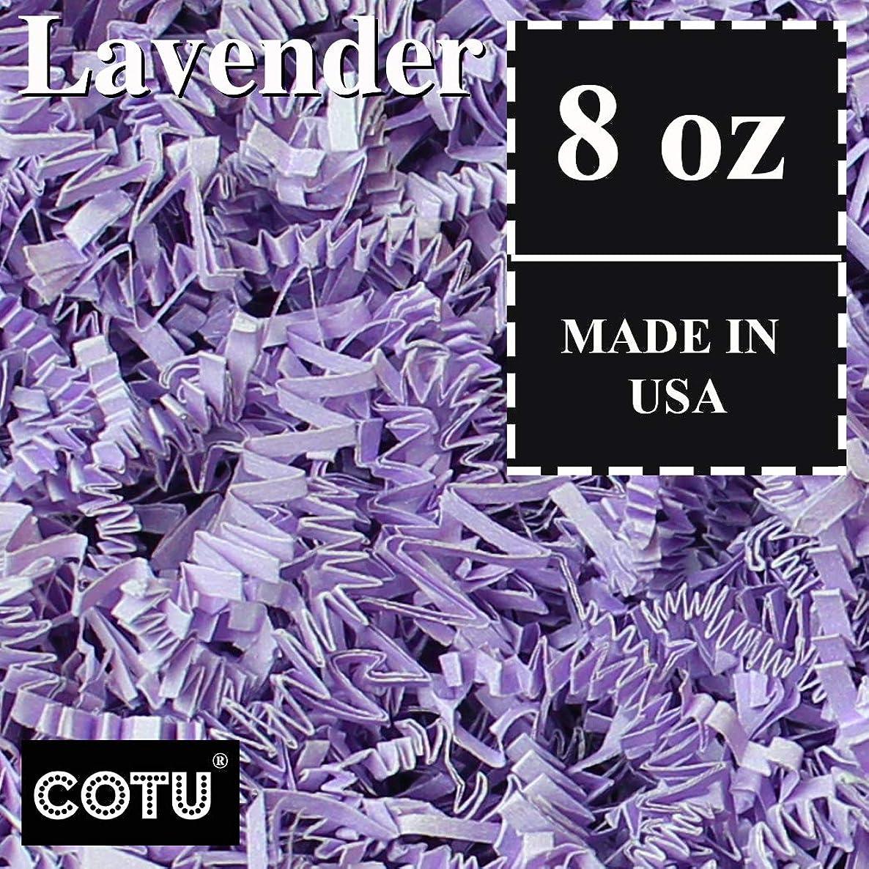 1/2 LB Lavender Crinkle Shred Gift Basket Shred Crinkle Paper Filler Bedding by COTU (8 oz)