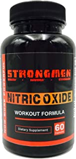 Strongmen Nitric Oxide Muscle Boost L-Arginine for Extra Strength Muscle Growth & Boost - Lean Muscle Growth Supplement - Nitric Oxide Boost Pills
