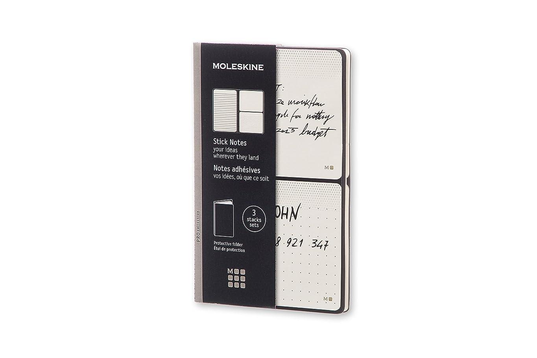 蒸留する幼児と遊ぶMoleskine Pro Collection Stick Notes: 3 Packs of 20 Stick Notes (2 Plain/I Ruled)
