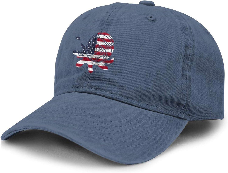 American Flag Water Polo Splash Adult Curved Brim Baseball Hat Sports Cowboy Cap
