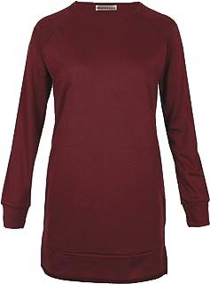 MAJECLO Women's Slim Fit Lightweight Long Sleeve Pullover Sweatshirt Tunic Tops
