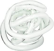 Torre & Tagus Orbit Glass Décor Ball, Large, White