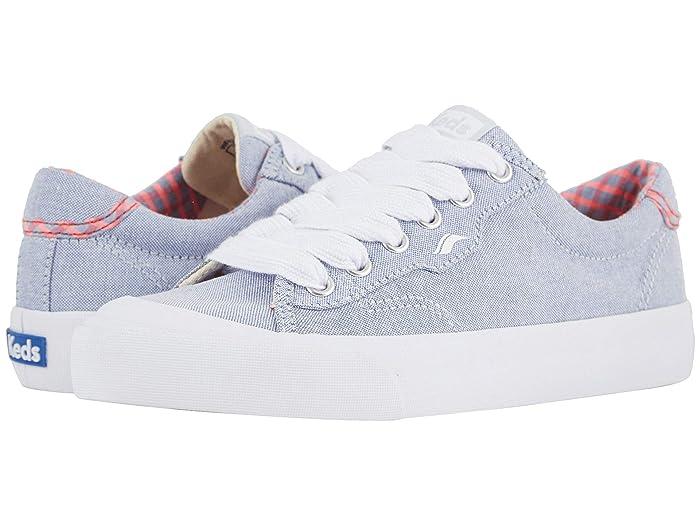Keds  Crew Kick 75 Chambray (Light Blue/Neon Pink) Womens Shoes