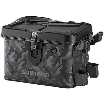 シマノ(SHIMANO) 釣りバッグ ロッドレスト ボートバッグ(ハードタイプ) ウェーブカモ 27L BK-007R 釣り バッグ