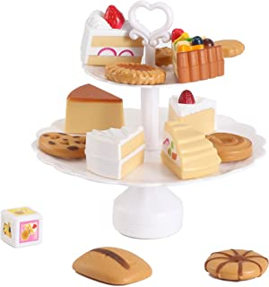 Liberty Imports Cookies and Desserts Tower Balance Cake Game - Play Food Toy Set for Kids